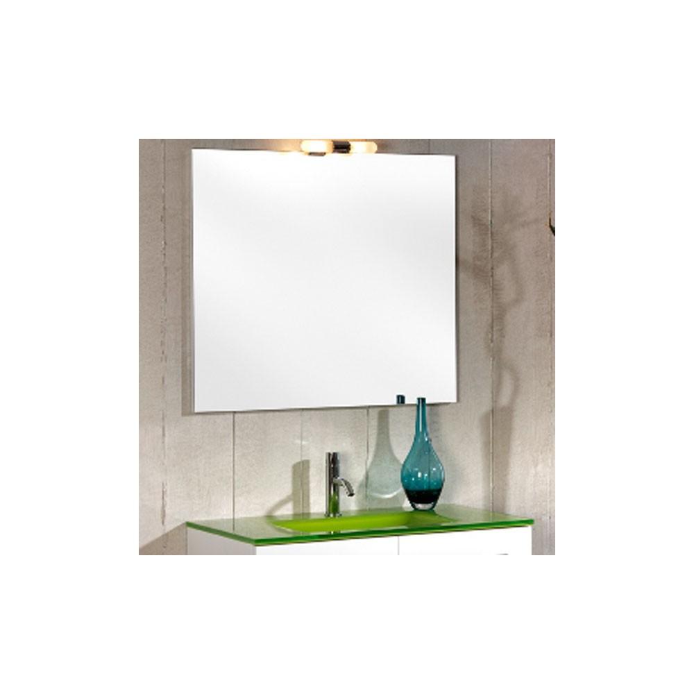Mueble ba o blanco lacado for Mueble bano 50 cm