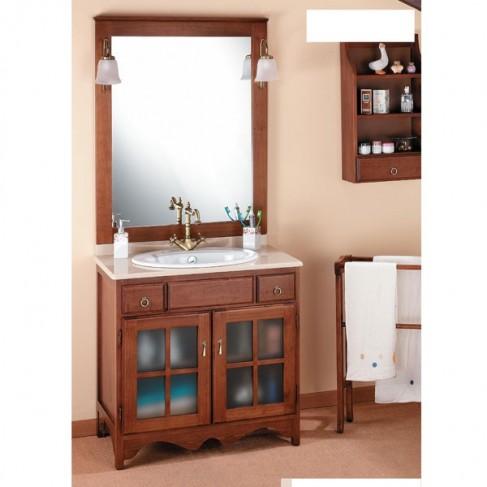 Muebles de ba o r stico cruz 80 cm for Muebles de bano de madera rusticos