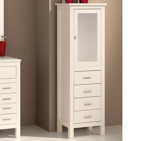 Muebles de ba o columna madera 45 cm for Columna de bano ikea