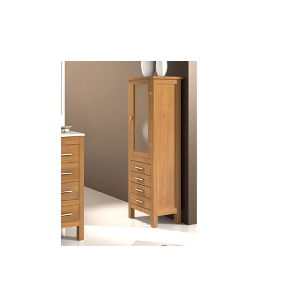 Muebles auxiliares para bano madera for Muebles auxiliares de bano conforama