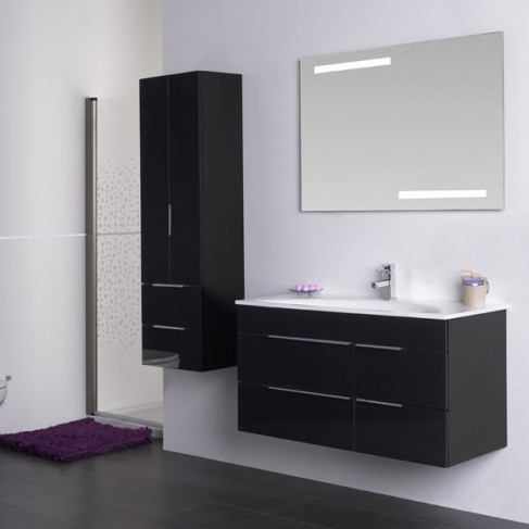 Muebles de ba o avina negro 100 cm - Muebles de bano para colgar ...