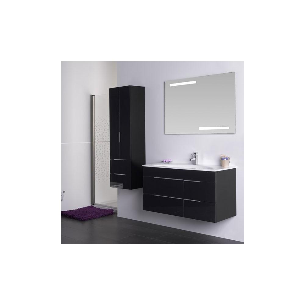 Muebles de ba o avina negro 100 cm for Griferia negra bano
