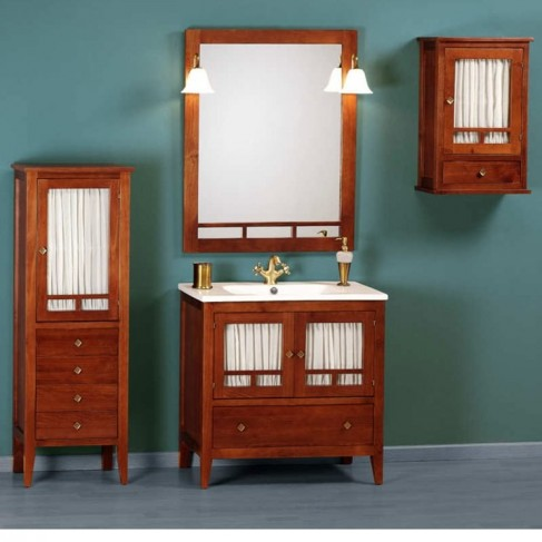 Muebles de ba o r sticos modernos 100 cm - Muebles rusticos bano ...