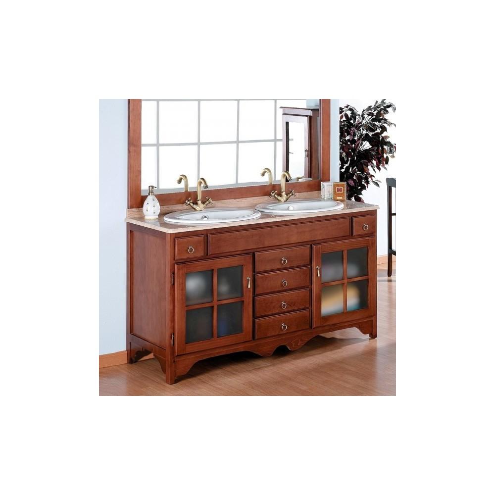 Muebles de ba o r stico cruz 140 cm - Mueble lavabo rustico ...