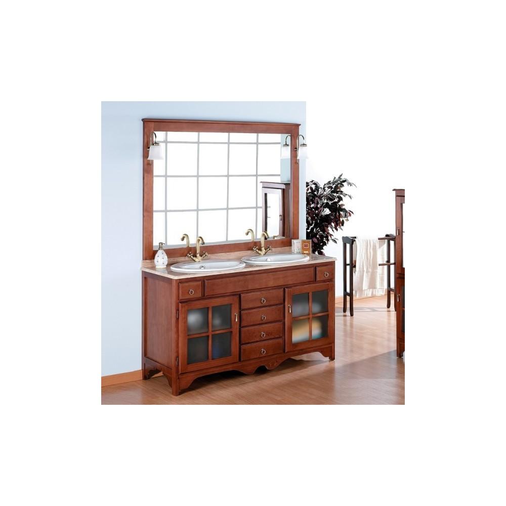 Muebles de ba o r stico cruz 140 cm - Muebles de lavabo rusticos ...