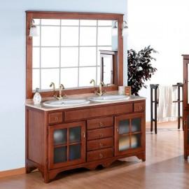 Muebles de ba o de madera mobalia ba os for Muebles rusticos de madera para banos