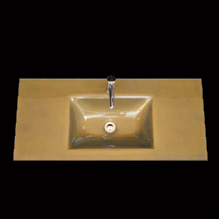 Encimera cristal oro