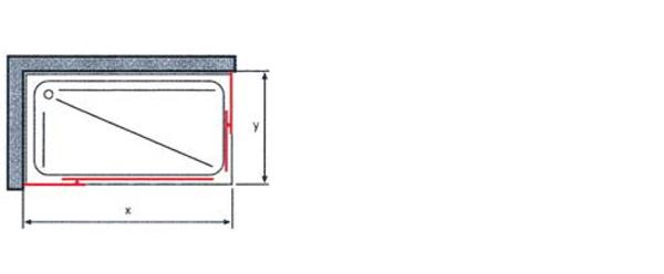 Tecnico mampara ducha gl-220 rectangular